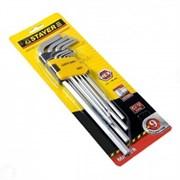 Набор имбусовых ключей STAYER MASTER 2741-H9, длинные, размеры HEX 1,5-10мм, по 9 штук