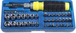 Набор STAYER 2555-H41 Отвертка реверсивная с торцевыми головками и битами, 41 предмет
