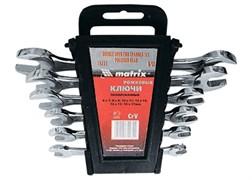 Набор ключей рожковых, 6 х 22 мм, 8 шт., CrV, хромированные