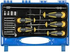 Набор STAYER 25134-H18 Отвертки ULTRA, Cr-V, намагниченные, 18 предметов
