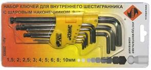 Набор шестигранников с шаром Энкор 1,5-10мм 9 шт