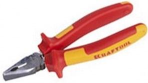 Плоскогубцы KRAFTOOL ELECTRO-KRAFT, Cr-Mo сталь, двухкомпонентная рукоятка, 180 мм, 2202-1-18_z01