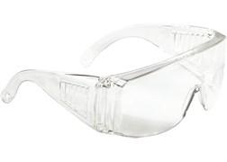 Очки защитные отктытого типа, прозрачные, ударопрочные, поликарбонат, СИБЕРТЕХ