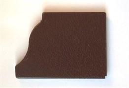 Заглушка д/желоба 0,23 коричневая