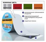 Лента-герметик самоклеящаяся и гидроизолирующая битумно-полимерная NICOBAND, 10смx3м, цвета: коричневый, зеленый, красный