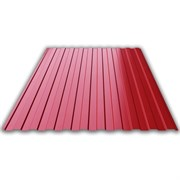 Профнастил/профиль листовой, стальной, С-8, 1.2x1.5м, толщина 0.35мм, окрашенный Вишня RAL 3005