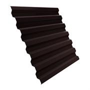 Профнастил/профиль листовой, стальной, С-8, 1.2x1.5м, толщина 0.35мм, окрашенный Коричневый RAL 8017