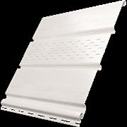 Софит (панель) пластиковый ПВХ для крыши 300.Н.003, 1x300x3000мм, сплошной, белый