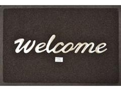 Коврик пористый Vortex-22182 40х60см, Welcome/Вход, коричневый
