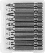 Биты ЗУБР Мастер кованые, хромомолибденовая сталь, РН1, 50мм, Е1/4