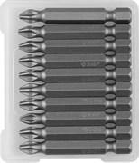 Биты ЗУБР Мастер кованые, хромомолибденовая сталь, РН2, 50мм, Е1/4