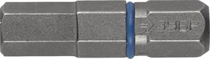 Биты ЗУБР торсионные кованные, обточенные, хромомолиб. сталь, С1/4, НЕХ6, 25мм, 2шт