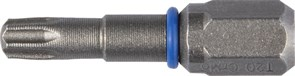 Биты ЗУБР торсионные кованные, обточенные, хромомолиб. сталь, С1/4, Т10, 25мм, 2шт