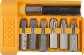 Набор STAYER Биты с магнитным адаптером в плоском мини-боксе, 7 предметов