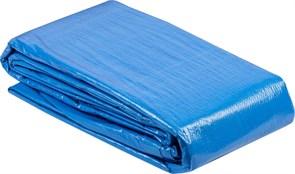 Тент-полотно ЗУБР МАСТЕР универсальный, из тканого полимера плотностью 75г/м3, с люверсами, водонепроницаемый, 6х10м, синий