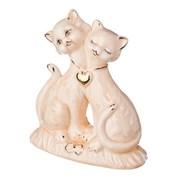 """Статуэтка """"Две кошки с кулоном"""" 11,8*9,5см кер."""