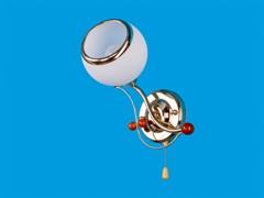 Светильник настенный 0604/1wFGD WT, высота 250мм, 40W, золото, белый матовый