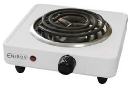 Плита электрическая одноконфорочная ENERGY-902 1,0квт/220Вт тэн белая