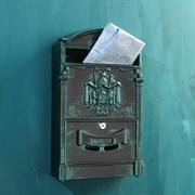 Ящик почтовый №4010В зеленая патина (4)