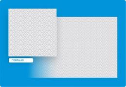 Плитка  потолочная инжекционная Люкс Формат, 50x50см, бесшовная, пенополистирол, Гейша, белая, упаковка 8шт. (2м2)