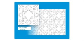 Плитка  потолочная экструзионная Формат Флексография, 50x50см, Поэзия жемчуг, упаковка 8шт. (2м2)