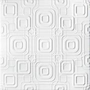 Плитка  потолочная экструзионная Солид С2070, 50x50см, белая, упаковка 8шт. (2м2)
