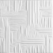 Плитка  потолочная экструзионная Лагом декор Формат 2602, 50x50см, пенополистирол, белая, упаковка 8шт. (2м2)