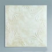 Плитка  потолочная экструзионная Лагом декор Формат 3702, 50x50см, пенополистирол, бежевая, упаковка 8шт. (2м2)