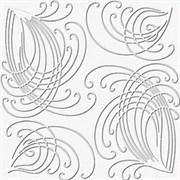 Плитка  потолочная экструзионная Лагом декор Формат 4702, 50x50см, пенополистирол, белая, упаковка 8шт. (2м2)