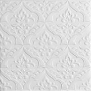 Плитка  потолочная экструзионная Лагом декор Формат 5202, 50x50см, пенополистирол, белая, упаковка 8шт. (2м2)