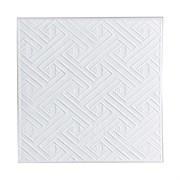Плитка  потолочная прессованная Лагом 702, 50x50cм, белая, упаковка 8шт. (2м2)