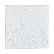 Плитка  потолочная прессованная Лагом 719, 50x50cм, белая, упаковка 8шт. (2м2)