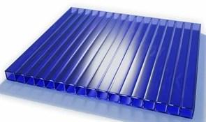 Сотовый поликарбонат Синий  4*2100*3000 ( 3 метра)