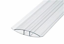 Профиль соединительный для поликарбоната 4-6 мм, 6 метров, Н-образный