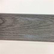Плинтус напольный ПВХ Идеал Элит 210, 67x22x2500мм, с кабель-каналом, мягкий край, Дуб пепельный