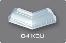 Плинтус потолочный  07504 КD Германия/Угловой элемент 04КDU