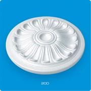 Розетка потолочная Лагом Формат Р200, диаметр 200мм, инжекционный пенополистирол, белая