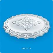 Розетка потолочная Лагом Формат Р300-1-0, диаметр 300мм, инжекционный пенополистирол, белая