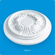 Розетка потолочная Лагом Формат Р340А, диаметр 340мм, инжекционный пенополистирол, белая
