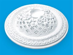 Розетка потолочная Лагом Формат Р330А, диаметр 330мм, инжекционный пенополистирол, белая