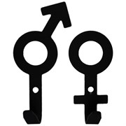 """Крючок вешалка серия """"Зодиак"""" мод.""""Мужской+женский символы-1"""" черный"""