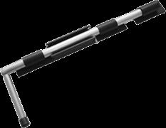 Засов Добрыня 450мм (черный) модификация 2