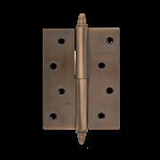 """НМ Петля сталь 610-4"""" (Медь) (Левая) размер: 100x75x2,5 с колпачком"""