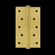 "НМ Петля сталь 750-5"" без колпачка (Латунное покрытие) (Левая) размер: 125x75x2,5"