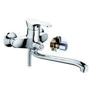 Смеситель для ванны катридж хром  ?40 мм переключатель поворотный 90°