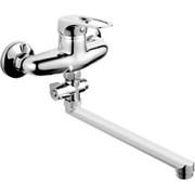 Смеситель для ванны RAINSBERG 3123F, длинный излив, однорычажный, силумин, хром
