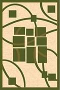 Ковёр коллекции KAMEA cz16/ 1.0*2.0м  OVAL-GREEN