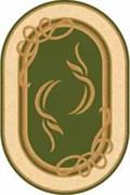 Ковёр коллекции OLYMPOS/a704/ 1.0*2.0м OVAL-GREEN