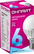 Лампа светодиодная ОНЛАЙТ 71 644 ОLL-G45-6-230-4K-E14