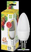 Лампа светодиодная ASD Свеча С37 Е14  5 W (400lm) 3000К пластик/алюм standart